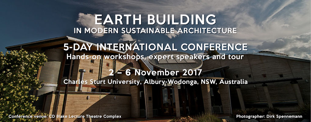 Earth Building Conference 2017