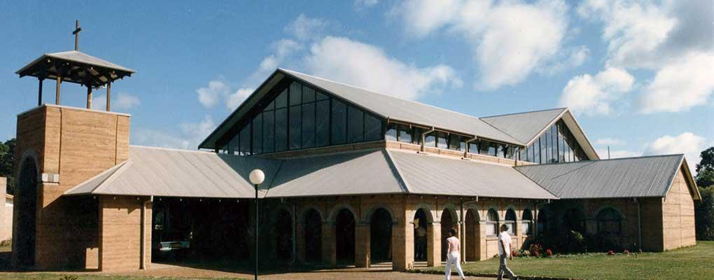 Rammed Earth - St Thomas More Catholic Church