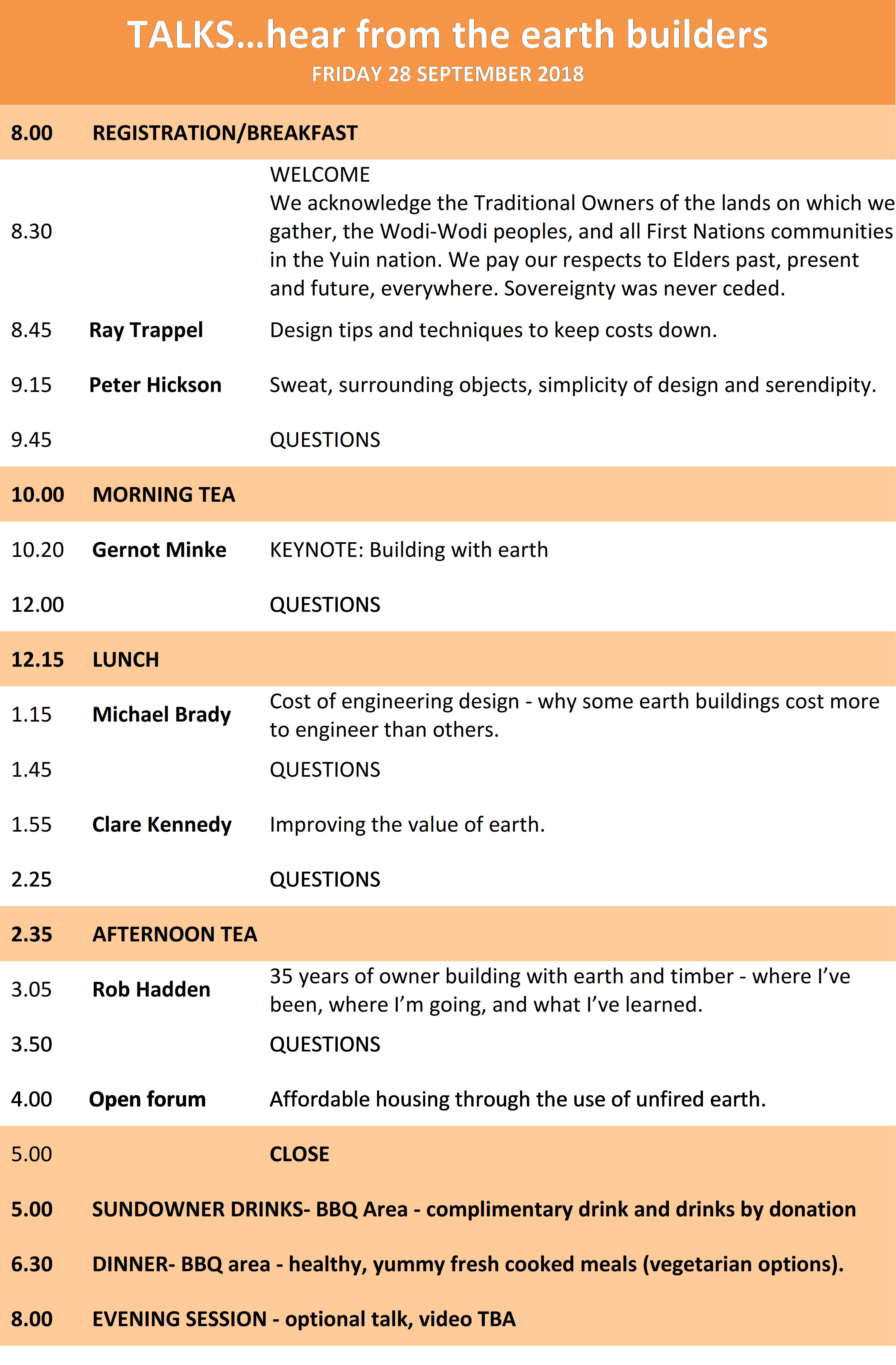 2018 Conference Programme DAY 1